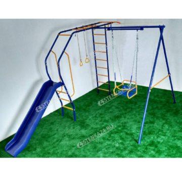 Уличный детский спортивный комплекс Модель №2 с горкой